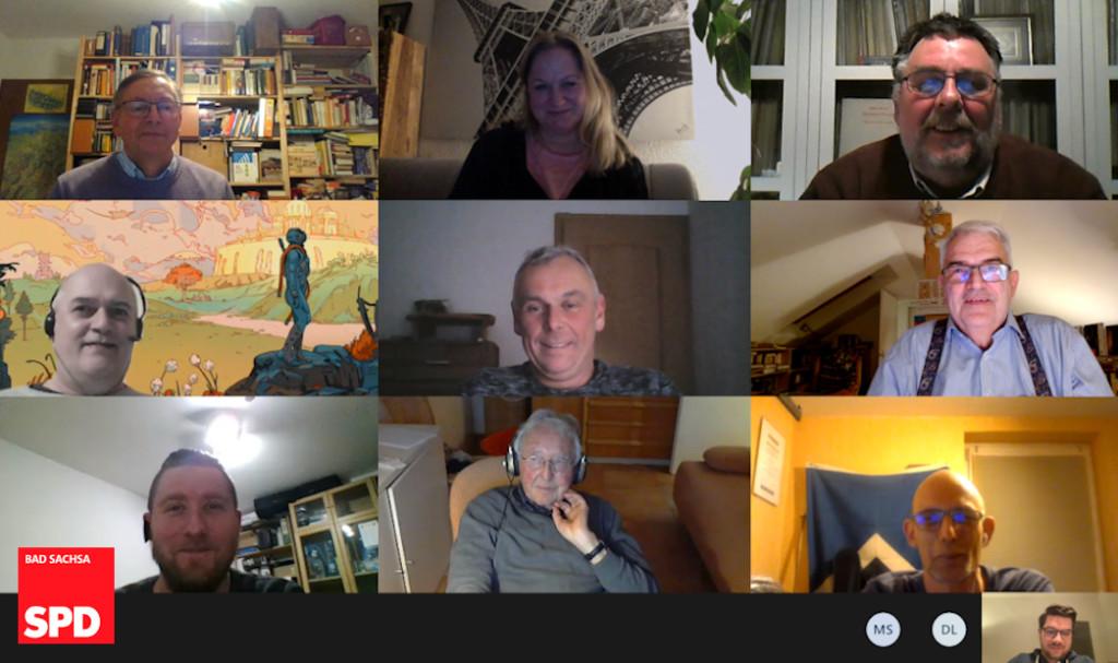 Mitglieder auf dem digitalen Infoabend